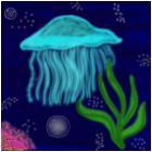 Jelly Fish under the sea