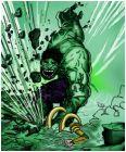 Hulk smashes Loki base.