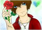 A rose for a lover. -Luke