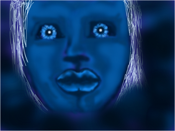 scary blue