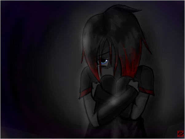Depressed emo girl