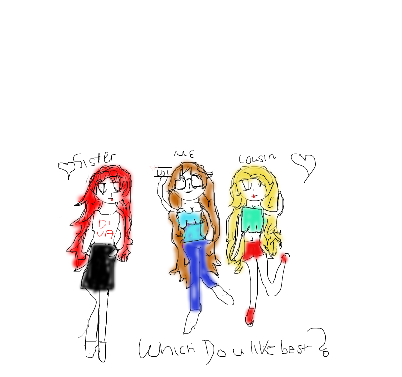 My family is awseome!: Which girl looks best?