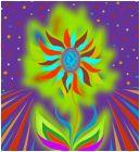 Glowing Lotus Pin Wheel Flower