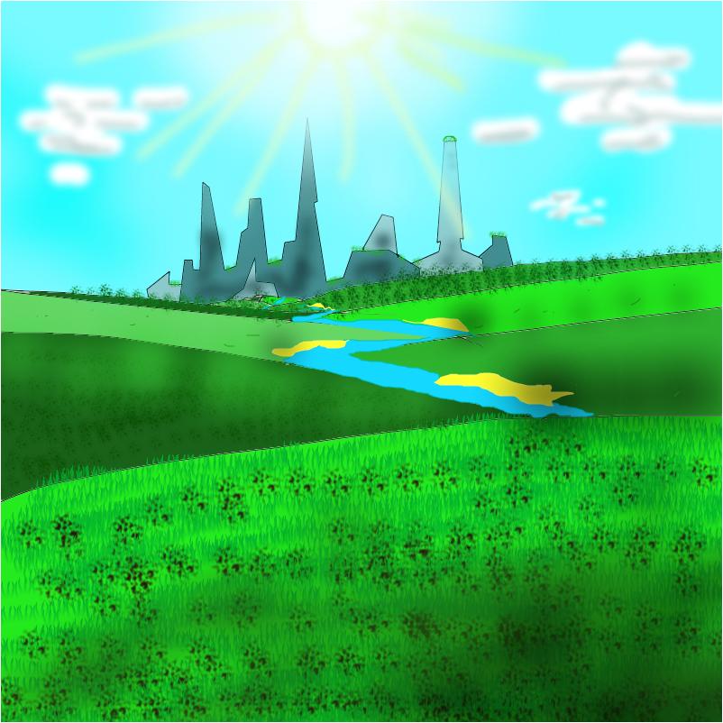 ECO City among the hills
