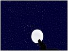 Wolf Under a Starry Sky