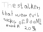 evil stalker socks