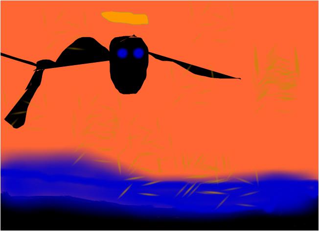 angel in the sun set