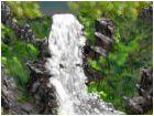 Waterfall down meadow