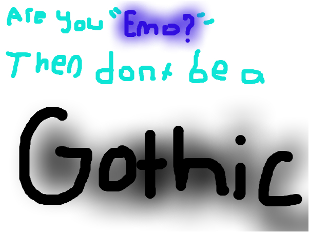 emo... Or gothic?