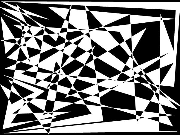 Broken Mirror in Black and White
