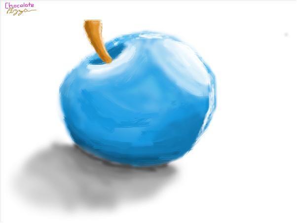 Simple Blue Apple