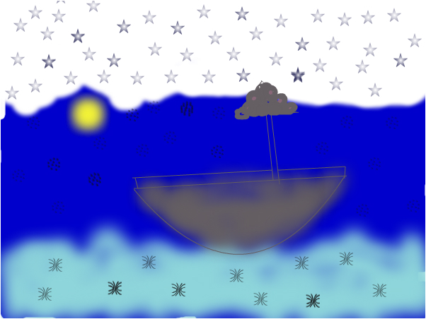boat in the dark