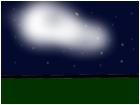 Cloudy starry night