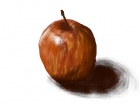 Quick apple drawing