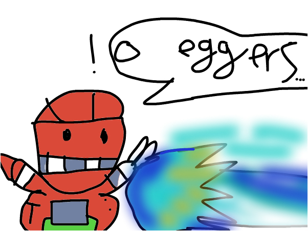 sonic smashes into a robot