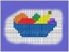 friut bowl checkerboard