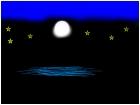 moon light on the water