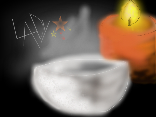 Candle & soup