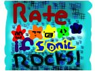 Rate if sonic rocks