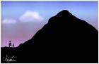 mountian at dusk