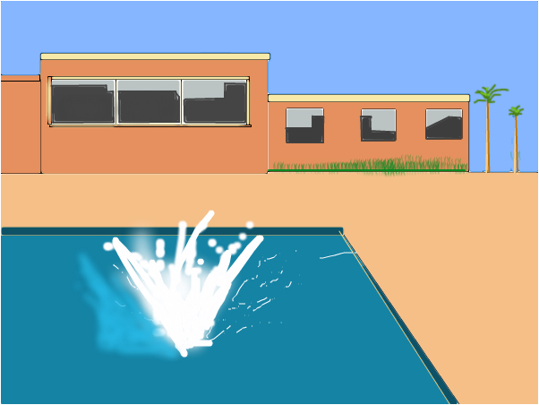 David hockney stylr pool