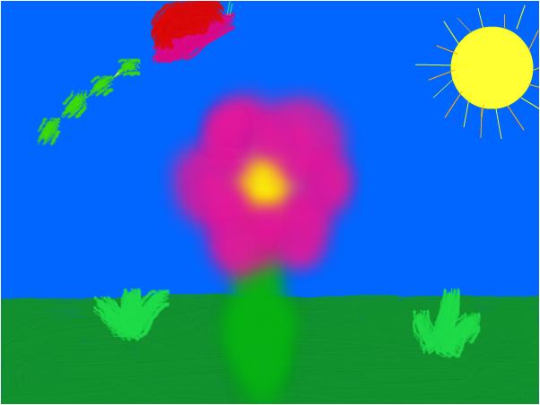 flor con mariposa XD