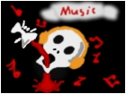 Music and skull
