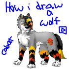 how i draw a wolf