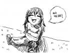 laughing chibi