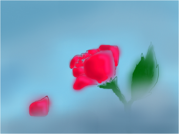 Rose in the Mist