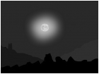 A moon poorly drawing