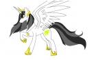 Solisae: princess of Stars full body drawing