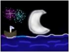 Moonlit Boat & Fireworks