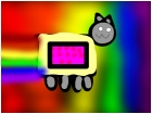 nyan cat with rainbow lines of the backround