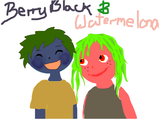 berry black and watermelona