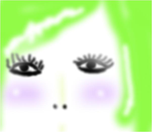 green hair girl