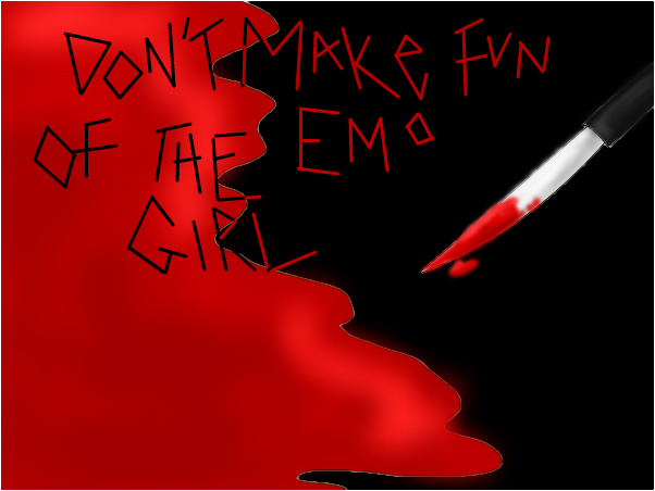 dont make fun of the emo girl