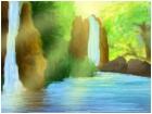 Waterfall Shiny Sun
