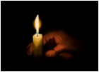 candle in my hand
