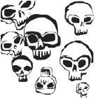 continuous line skulls