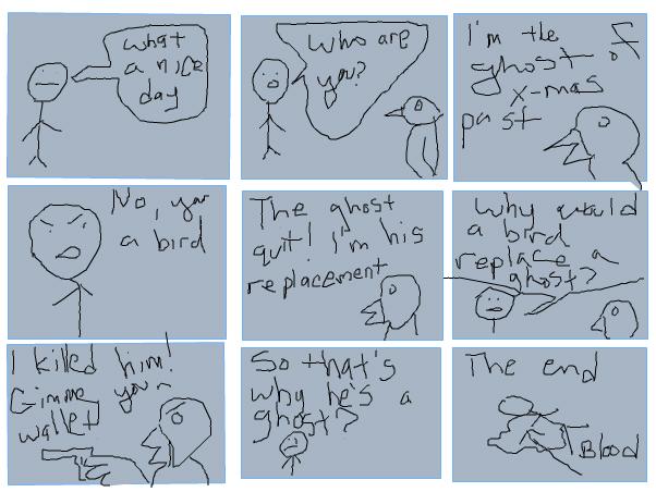 A cartoon about birds