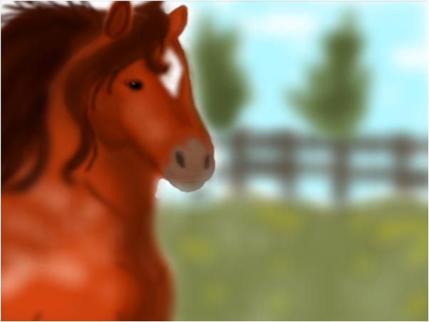 relistic horse