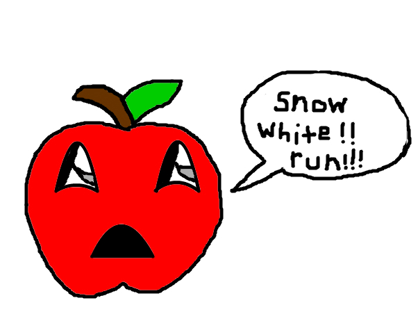 scared apple