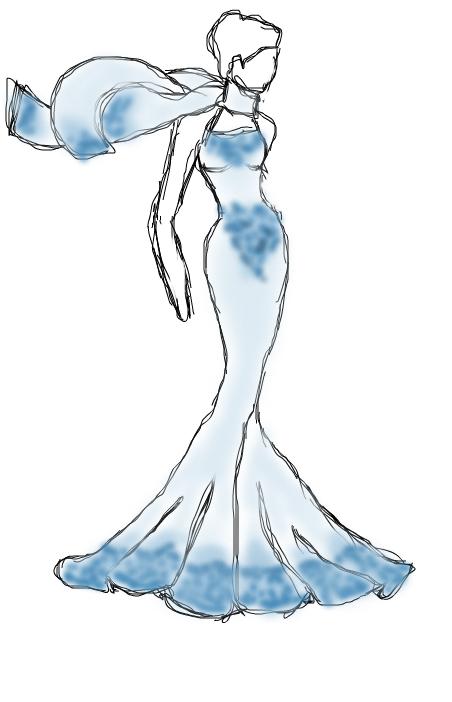 Kinda abstract blue dress
