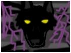 black wolf purple lightning