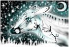 Snow deer spirit