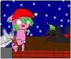 Santa me and kayla