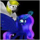 derpy and princess luna