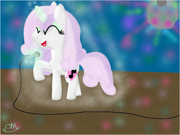 grown up sweetie belle on pony idiol