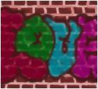 Love on a brick wall